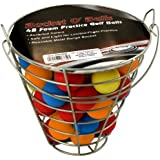 ProActive Sports Bucket O' Balls with 48 Foam Practice Balls (Assorted)