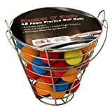 ProActive Sports Bucket O Balls with 48 Foam Practice Balls (Assorted)