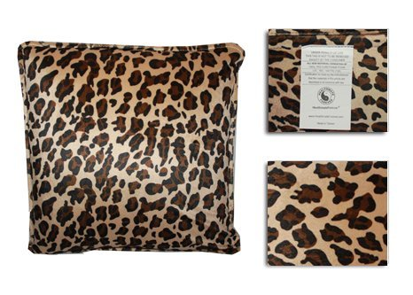 HealthmateForever Pressure Activated Massage Pillow (Large Leopard) High Quality Vibrating ...