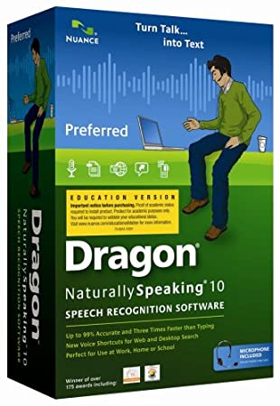 Dragon NaturallySpeaking 10 Preferred Student Edition [Old Version]