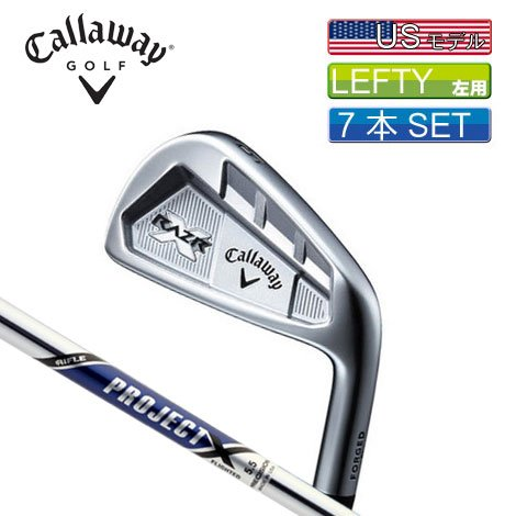 Callaway Golf RAZR X Forged Irons, Set of 7 (Left-Handed, Project X Steel, 6, 4-PW)