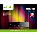 New Arrival! KDLINKS HD700 Extreme FULL HD 1080P 3D Media Player with Gigabit Network, Built-In Wifi, 7.1 HD-Audio, Youtube & Full ISO/VOB Support (Realtek 1186 3D)