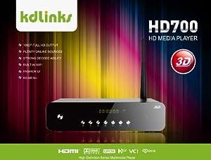 New Arrival! KDLINKS HD700 Extreme FULL HD 3D Digital Media Player with Gigabit Network, Built-In Wifi, Youtube & Full ISO/VOB Support (Realtek 1186 3D)