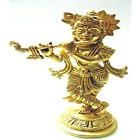 Divine God's Lord Shree Krishna Brass Idol 7.5 Inches