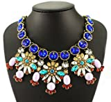 Fit&wit Rhinestones Bohemia National Style Statement Fashion Necklace Multi-color