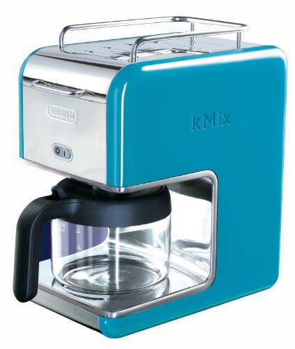 DeLonghi Kmix 5-Cup Drip Coffee Maker, Blue