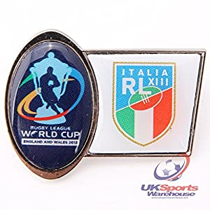 Official Italy Rugby League World Cup 2013 Supporters Pin Badge rrp£6 by Trofe