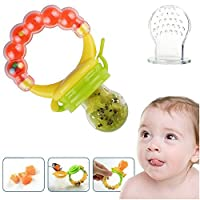 Silicone Baby Food Feeder Pacifier Gum Teether Nibbler with Fresh Fruits Vegetables for Feeding Toddlers. Baby Shower Gifts for boys and girls. from SCME