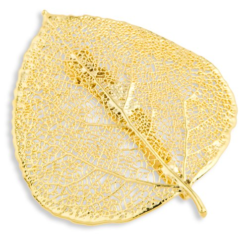 24k Gold Dipped Aspen Leaf Pin