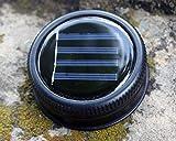 Solar Light Lids for Regular Mouth Mason, Ball, Canning Jars (5 Pack, Black)