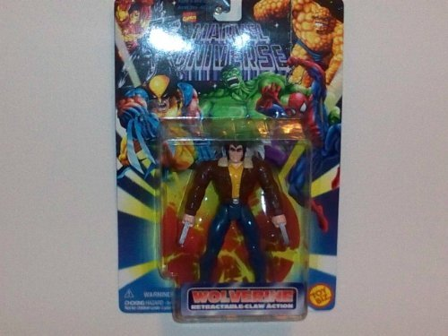 "1996 Toy Biz Marvel Universe 5"" Action Figure: Wolverine (Logan)- Retractable Claw Action - 1"
