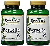 Swanson Premium Boswellia 400 mg - 2 Bottles each of 100 Capsules