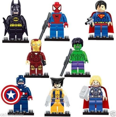 8Pcs/Lot Marvel Super Heroes Avengers Minifigures Building Blocks Toys W/LEGO (Han Solo Costume Diy)
