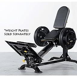 Powertec Fitness Compact Leg Sled, Black