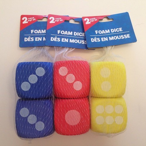 "2½"" Large Foam Dice, 2-ct. - 1"