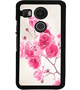 ColourCraft Beautiful Roses Design Back Case Cover for LG GOOGLE NEXUS 5X