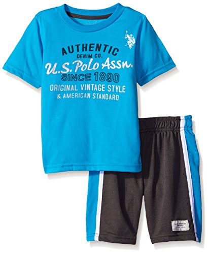 U s polo assn baby boys 39 graphic t shirt and mesh sport for Boys teal t shirt