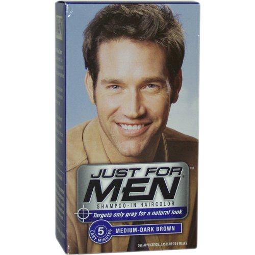 Just for Men Shampoo-In Hair Color, Medium-Dark Brown 40, 1 application, (Pack of 3)