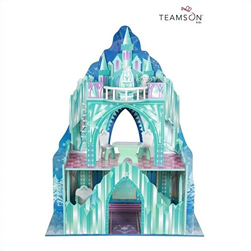 Teamson Kids - Ice Castle Wooden Doll House with 7 pcs Furniture for 12 inch Dolls (Elsa House compare prices)
