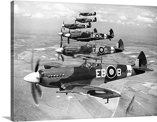 gallery-wrapped-canvas-entitled-british-aircraft-spitfire
