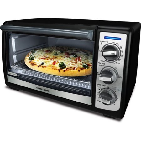Black & Decker 4 Slice Convection Countertop Heating Stainless Steel Toaster Oven- Black (Toaster Oven Mount Under Cabinet compare prices)