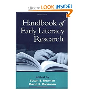 Handbook of Early Literacy Research, Volume 1 Susan B. Neuman EdD and David K. Dickinson EdD