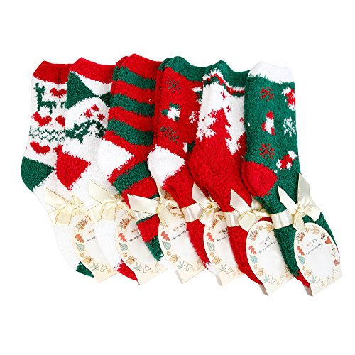 Lisli® Fashion 6 Pairs Christmas Woman Men Soft Warm Winter Cozy Socks New Year Gift