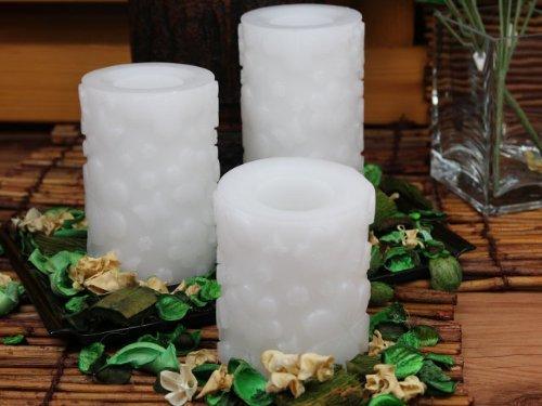 Flammenlose Kerzen, weißes Wachs