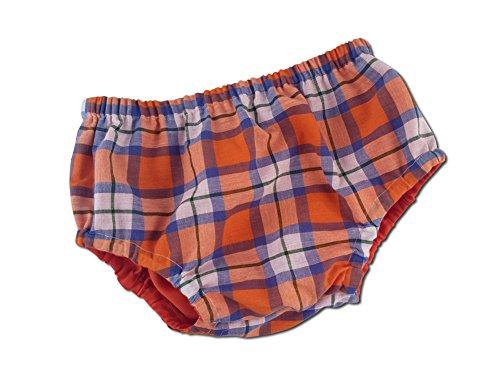 Juxby Kids Baby-Boys Orange-Blue-White Plaid #2 Diaper Cover-12To24M
