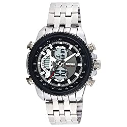 Skmei Formal Chronograph Analog - Digital Black Dial Mens Watch - AD0933