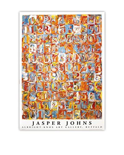 Jasper Johns Numbers In Color 1976 Unframed Poster, Multi