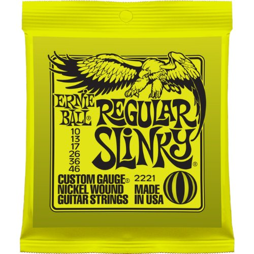 1 x Ernie Ball Regular Slinky Guitar Strings 2221 10-46