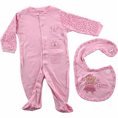 Little Princess Sleep N Play & Bib - Buy Little Princess Sleep N Play & Bib - Purchase Little Princess Sleep N Play & Bib (Luvable Friends, Luvable Friends Apparel, Luvable Friends Toddler Girls Apparel, Apparel, Departments, Kids & Baby, Infants & Toddlers, Girls, One-Pieces & Rompers)