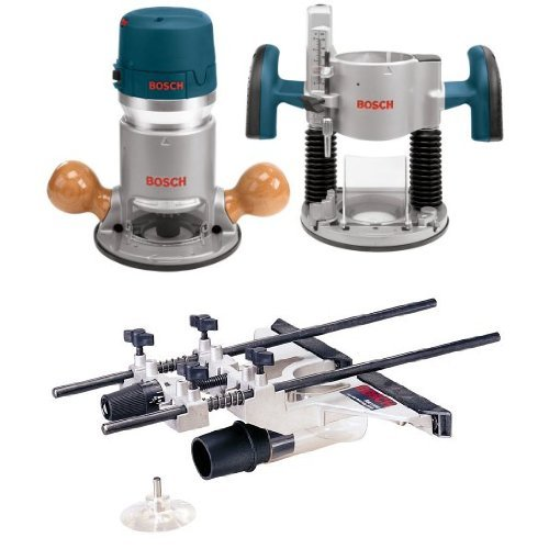 Bosch 1617EVSPK 12 Amp 2-1/4-Horsepower Plunge and Fixed Base Variable Speed Router with RA1054 Deluxe Router Edge Guide With Dust Extraction Hood & Vacuum Hose Adapter (Bosch Ra1054 compare prices)