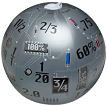 "American Educational Vinyl Clever Catch Toss N' Talk Fractions Decimals and Percents Ball, 24"" Diameter"