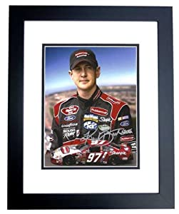 Kurt Busch Autographed Hand Signed Racing 8x10 Photo - BLACK CUSTOM FRAME by Real Deal Memorabilia