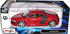 Maisto Audi R8 Diecast Car Model 1:24 Red Die Cast Car