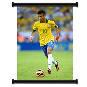 Amazon.com - Neymar Soccer Futbol Star Fabric Wall Scroll Poster (16