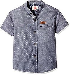 UFO Boys' Shirt (AW16-WF-BKT-515_Grey_10 - 11 years)