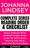 Johanna Lindsey Series Reading Order & Checklist: Series List in Order - Malory Anderson Series, Shefford's Knights Series, Ly-san-ter Series, & All Other     Books (Listabook Series Order Book 50)