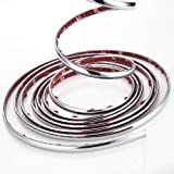 51dVxisQnZL. SL160  Interior Chrome Plated Car Van Pickup Truck SUV Wheel Well Bumper Exterior Decoration Moulding Molding Trim Strip 8M x 8MM (26.2 x 5/16) with 3M Adhesive Tape for Nissan Versa Cube Altima 370Z Coupe Roadster Juke Rogue Murano Cross Cabriolet Xterra Pathfinder Armada Frontier Titan Pickup Truck SUV Quest