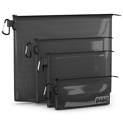 Dot&Dot Travel Accessories Organizer, Black, 4-Piece Set (Mesh Bag Inserts compare prices)