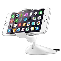 Aukey Xenomix CD Slot Car Mount Smartphone Holder Cradle for iPhone 6, 6 Plus, iPhone 6S,6S Plus, Samsung Galaxy S5 S4 S3, GPS and More(HD-C9,White)