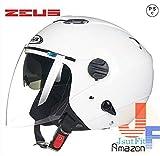 多色選択可能 バイク ヘルメット バイク用  高密度ABS ダブルシールド ジェット 3/4ヘルメット ハーレー サングラス付き PSC付き 春、夏、秋、冬 ZEUS-202FB[商品5/XXXL]