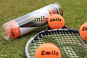 Personalised Tennis Balls - Orange Made in the UK from PRICE OF BATH