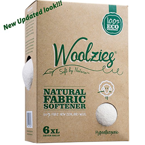 Woolzies, the Original Highest Quality Wool Dryer Balls Set of 6 Xl ,Best Natural Fabric Softener, Gift Set (Wool Dryers Balls compare prices)
