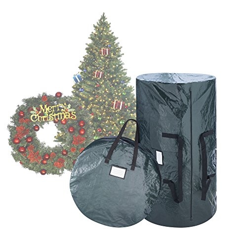 elf stor deluxe green christmas tree storage bag 30 inch wreath bag ebay. Black Bedroom Furniture Sets. Home Design Ideas