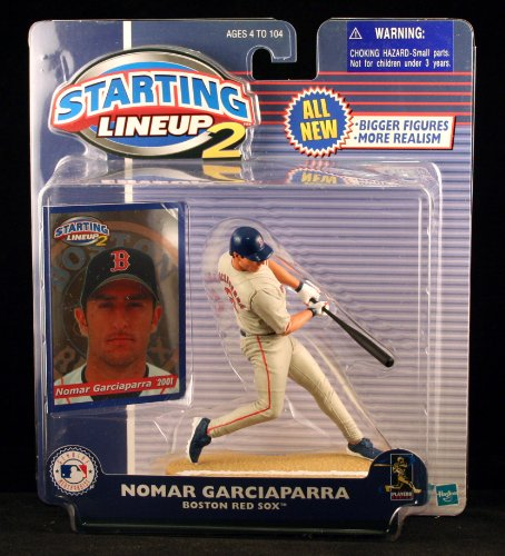 NOMAR GARCIAPARRA / BOSTON RED SOX 2001 MLB Starting Lineup 2 Action Figure & Exclusive Trading Card - 1