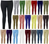 GIRLS LADIES FULL ANKLE LENGTH LEGGINGS PLAIN STRETCHY LEGGING PLUS SIZE 8-26