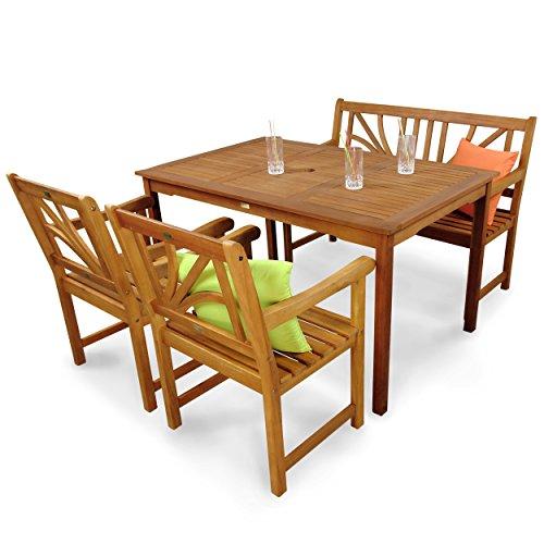 indoba ind 70104 lose4gb2 serie lotus gartenm bel set 4 teilig aus holz fsc zertifiziert. Black Bedroom Furniture Sets. Home Design Ideas